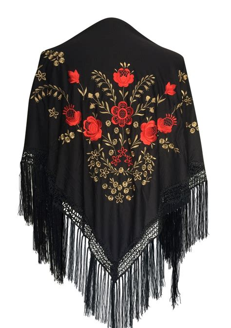 Dress Grandis Set Free Pasmina flamenco dress flamenco shawl black gold roses