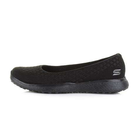 Skechers Microburst womens skechers microburst one up black ballerina flat