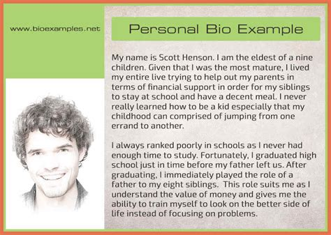 exle biography of myself exles of biography bio exle