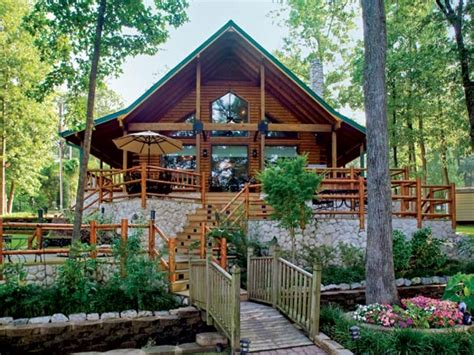 waterfront log homes log cabin home lakefront lakefront