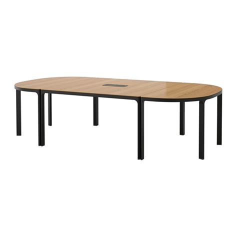 Black Boardroom Table Bekant Conference Table Oak Black Ikea