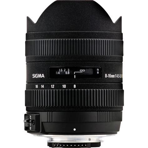 Sigma 8 16mm F45 56 Dc Hsm For Nikon sigma 8 16mm f 4 5 5 6 dc hsm ultra wide zoom lens 203306 b h