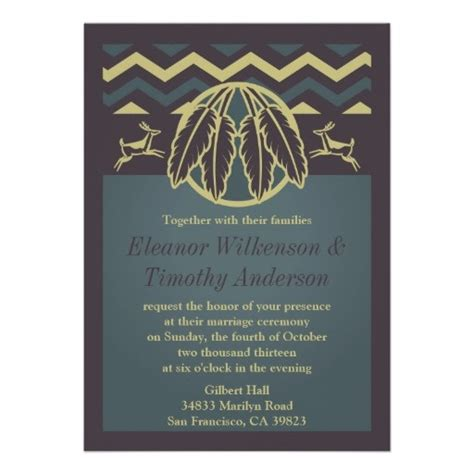 wedding invitations american 68 best images about american tribal theme on feathers teepees and