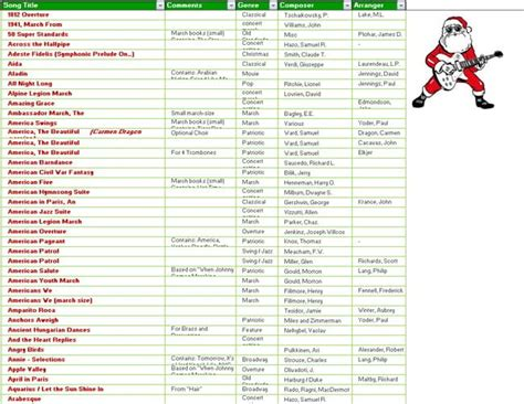 christmas song list shopping gift and to do list templates in ms excel office templates