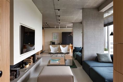 Exposed Concrete Interior by Exposed Concrete Walls Interior Design Ideas