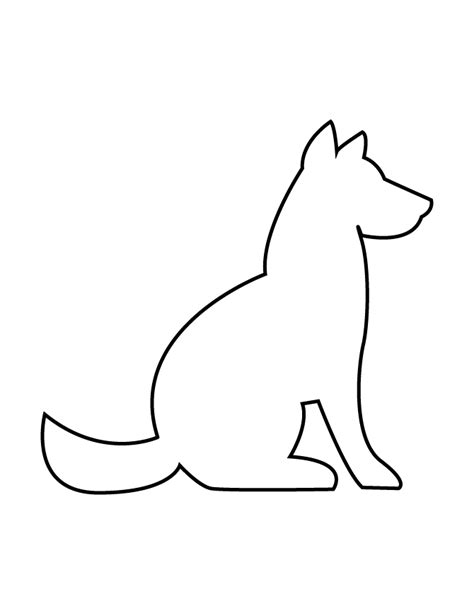 Printable Stencils Of Dogs   dog stencils images reverse search