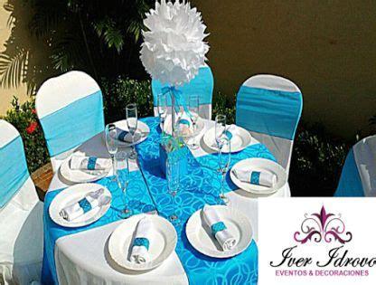 mesa de invitados bautizo ni 241 o decoraci 243 n en tonos blanco con turquesa bautizos ni 241 os