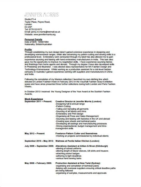 Sample Resume For Fashion Designer – #Fashion #Designer Resume Help (resumecompanion.com