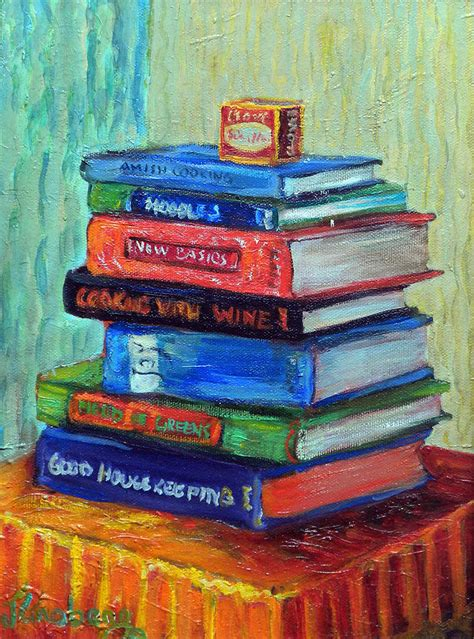 painting in the books recipe books painting by jean groberg