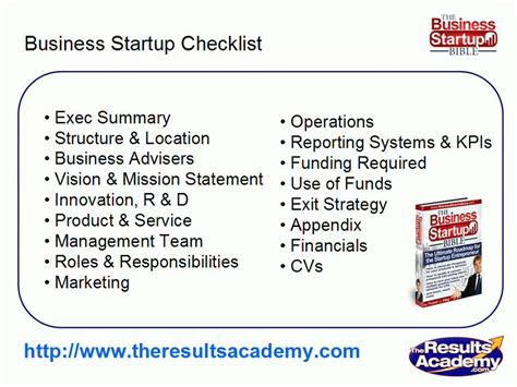 small business startup checklist small business plan