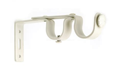 white curtain brackets white double iron curtain rod brackets adbk wi