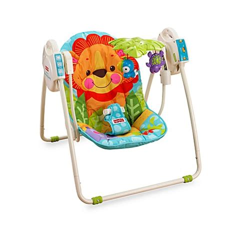 fisher price animal swing fisher price 174 precious planet open top take along swing