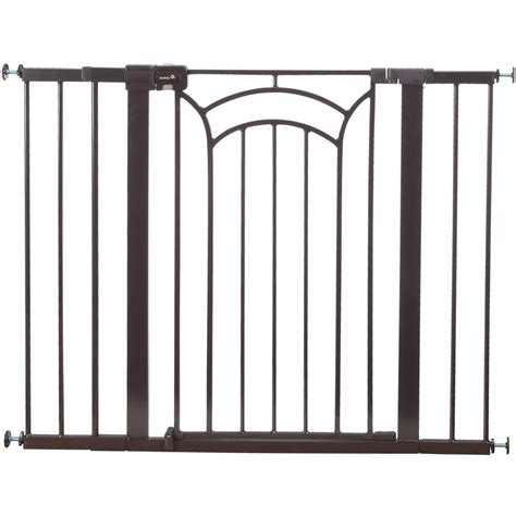 wide gates safety 1st decor easy install 36 in and wide gate ga107dec1 the home depot