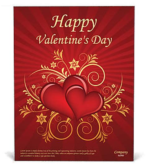 valentines day poster template design id  smiletemplatescom