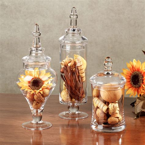 decorative apothecary jars bathroom aris glass apothecary jar set