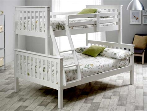 bunk beds images bedmaster carra triple sleeper bunk bed frame buy online