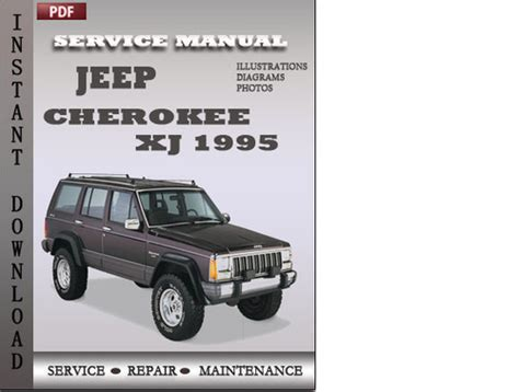download car manuals pdf free 1995 jeep cherokee instrument cluster jeep cherokee xj 1995 factory service repair manual download down