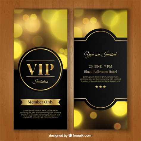 Golden Vip Invitation Vector Free Download Vip Birthday Invitations Templates Free
