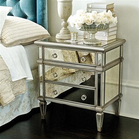 mirrored end tables with drawers bungalow 5 josephine 2 drawer mirrored geometric side table