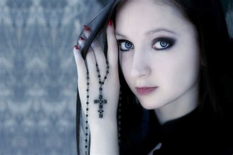 Gothic Girl, Face, Look wallpaper download Girl