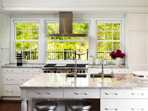 kitchen cabinets with windows behind how to decorate a galley kitchen hgtv pictures ideas