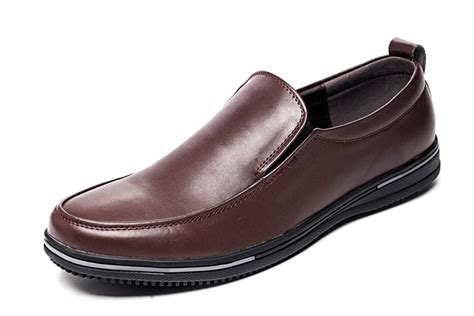 grain leather non slip work shoes for brown