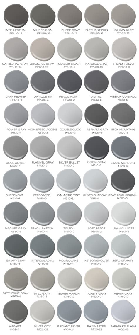 gray paint swatches colorfully behr behr s 50 shades of grey