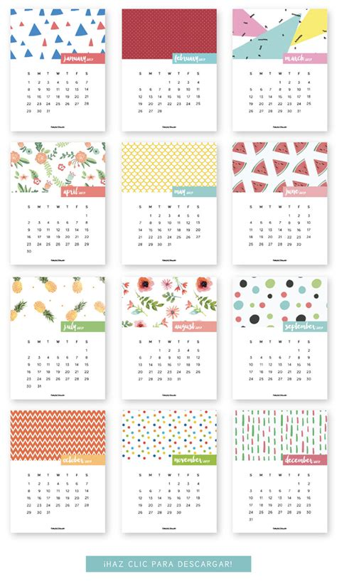 Printable Mini Calendar 2017 Free 20 free printable calendars for 2017 hongkiat