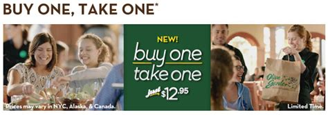 Olive Garden Buy One Take One Menu by Olive Gardens Buy One Take One Don T Miss This Amazing