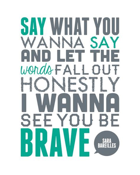 printable brave lyrics 92 best i f ing love sara bareilles images on pinterest