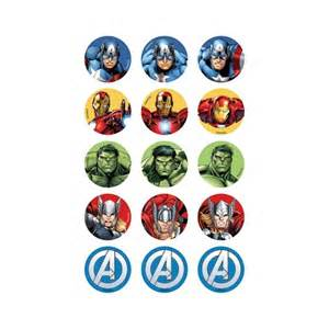 avengers icing cupcake toppers