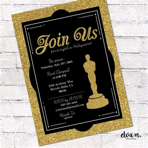 academy awards invitation template oscar invitation academy awards invite