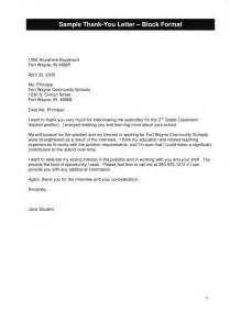 Thank You Letter After Meeting Principal job search handbook for educators booklet