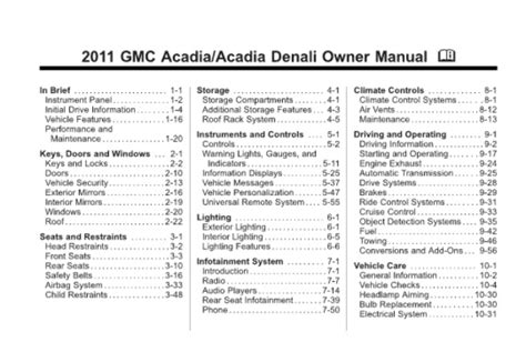 how to download repair manuals 2011 gmc acadia windshield wipe control service manual pdf 2011 gmc acadia transmission service repair manuals gmc workshop manuals