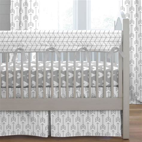 gray crib bedding silver gray arrow crib bedding carousel designs