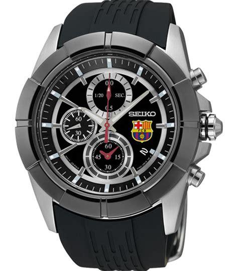 Seiko Spc089p2 Sportura Barcelona Black Silver Blue seiko snde81 mens fc barcelona chronograph stainless