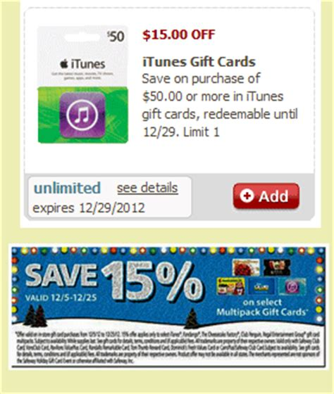 Safeway Itunes Gift Cards - safeway hot 60 itunes gift card for only 36 discountqueens com