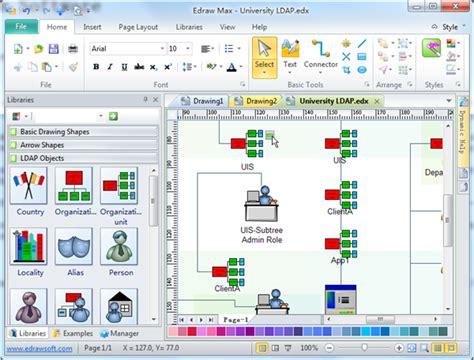 ldap visio stencil active directory visio network diagram wiring library