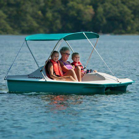 sun dolphin paddle boat canopy aqua sun dolphin 5 paddle boat with canopy walmart