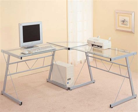 desk shapes glass corner desk l shapes glass corner desk