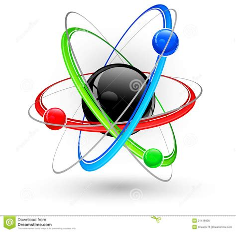 atom color atom color symbol royalty free stock image image 21416936