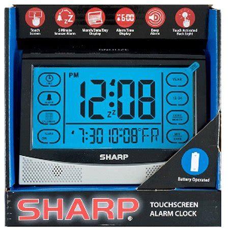 sharp lcd touch screen alarm clock silver black walmart