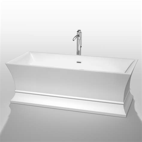 wyndham bathtubs jamie 67 quot soaking bathtub by wyndham collection white
