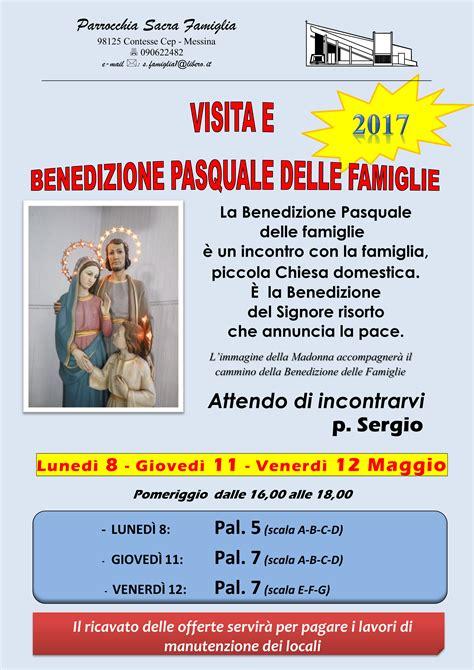 benedizione delle benedizione delle famiglie manifesto 8 11 12 maggio