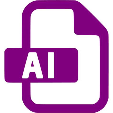 purple adobe ai  icon  purple file icons