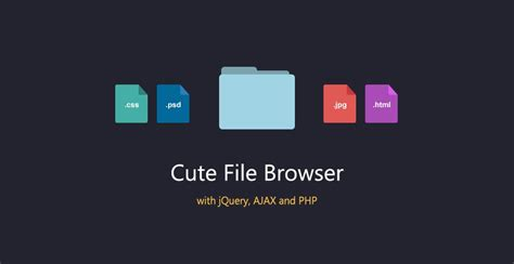design html file cute file browser with jquery and php tutorialzine