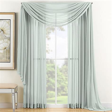 seafoam green sheer curtains buy reverie 84 inch sheer window curtain panel in seafoam