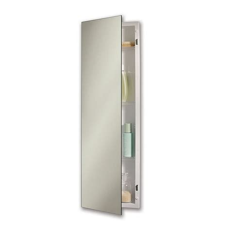 12 x 36 mirrored medicine cabinet shop pillar 12 in x 36 in rectangle recessed