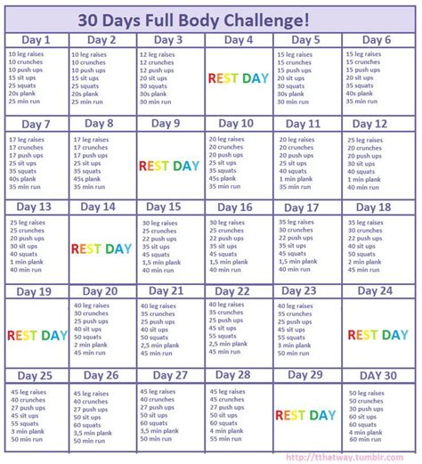 25 best 30 day workouts ideas on 30 challenge