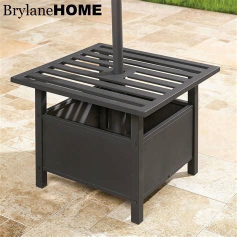 Umbrella Stand For Patio Table The Funky Monkey Giveaway Brylanehome 9 Patio Umbrella